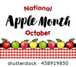 apple month  national holiday... | Shutterstock .eps vector #458919850
