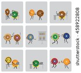 donuts. business characters set. | Shutterstock .eps vector #458922808