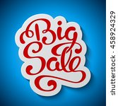 sale banner with handwritten... | Shutterstock .eps vector #458924329