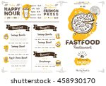 fast food restaurant menu... | Shutterstock .eps vector #458930170