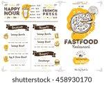 fast food restaurant menu... | Shutterstock .eps vector #458930170