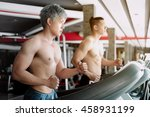 young man and his friend... | Shutterstock . vector #458931199
