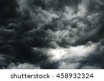 the dark clouds make the sky in ... | Shutterstock . vector #458932324