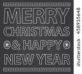 merry christmas and happy new... | Shutterstock .eps vector #458935648