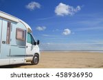 camping on the beach in denmark ... | Shutterstock . vector #458936950