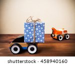 gift box and toy machinery.... | Shutterstock . vector #458940160