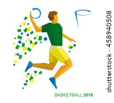 basketball player in the colors ... | Shutterstock .eps vector #458940508