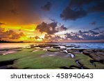 Colorful Sunset Seascape At...