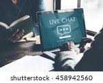 live chat online conversation... | Shutterstock . vector #458942560