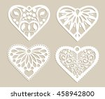 set stencil lacy hearts with...