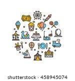 amusement park round design... | Shutterstock .eps vector #458945074