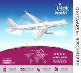 airline vector concept travel...   Shutterstock .eps vector #458945740