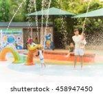 blurred motion of kids having...   Shutterstock . vector #458947450