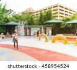 blurred motion of kids having...   Shutterstock . vector #458954524