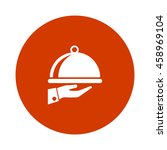 covered plate icon   Shutterstock .eps vector #458969104
