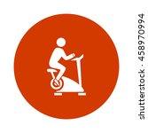 fitness bike icon | Shutterstock .eps vector #458970994