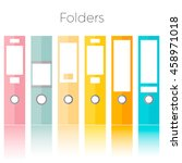 office folders isolated on the...   Shutterstock .eps vector #458971018