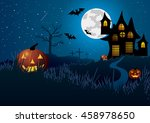 halloween. the road to the... | Shutterstock . vector #458978650