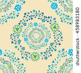 seamless floral pattern colored ... | Shutterstock .eps vector #458983180