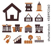 buying home icon set | Shutterstock .eps vector #458992360