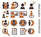 businessman icon set | Shutterstock .eps vector #458992486