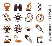biohazard  toxic icon set | Shutterstock .eps vector #458992549