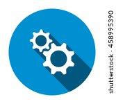gear icon  flat design style | Shutterstock .eps vector #458995390