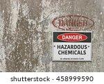 red  black and white danger ... | Shutterstock . vector #458999590