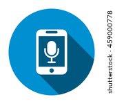 microphone icon  flat design...