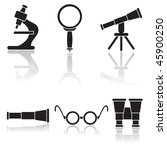 Set of optical icons, illustration - stock vector
