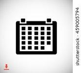 kalendar icon | Shutterstock .eps vector #459005794