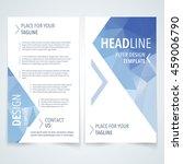vector modern flyer  poster or... | Shutterstock .eps vector #459006790
