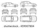 car sedan and suv drawing... | Shutterstock .eps vector #459007804