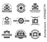 photo studio labels  badges ... | Shutterstock .eps vector #459008779