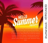 summer illustration. vacation... | Shutterstock .eps vector #459014650