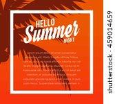 summer illustration. vacation... | Shutterstock .eps vector #459014659