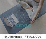 health fitness healthcare...   Shutterstock . vector #459037708