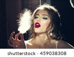 young fashionable woman with... | Shutterstock . vector #459038308