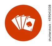 playing card button | Shutterstock .eps vector #459041038