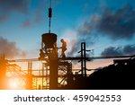 silhouette people heavy...   Shutterstock . vector #459042553