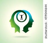 couple thinking achievement ... | Shutterstock .eps vector #459044644