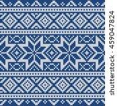 winter sweater design. seamless ... | Shutterstock .eps vector #459047824