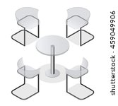 set of transparent chairs and a ... | Shutterstock .eps vector #459049906