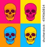 pop art graphic illustration of ... | Shutterstock .eps vector #459060814