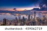 hong kong city view from peak... | Shutterstock . vector #459062719
