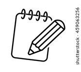 vector black symbol of notepad. ...   Shutterstock .eps vector #459063256