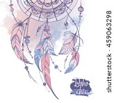 dreamcatcher  feathers and...   Shutterstock .eps vector #459063298