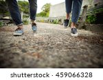 denim shoes. girl and boy in... | Shutterstock . vector #459066328