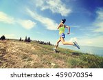 healthy young woman trail... | Shutterstock . vector #459070354