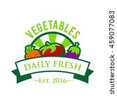 vegetable and healthy food logo ... | Shutterstock .eps vector #459077083